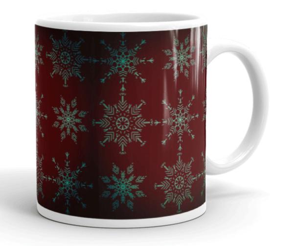 Rich Holiday Crystal Mandalas Art Mug Right