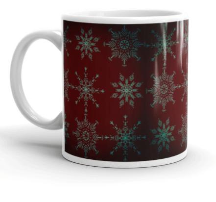 Rich Holiday Crystal Mandala Art Mug Left