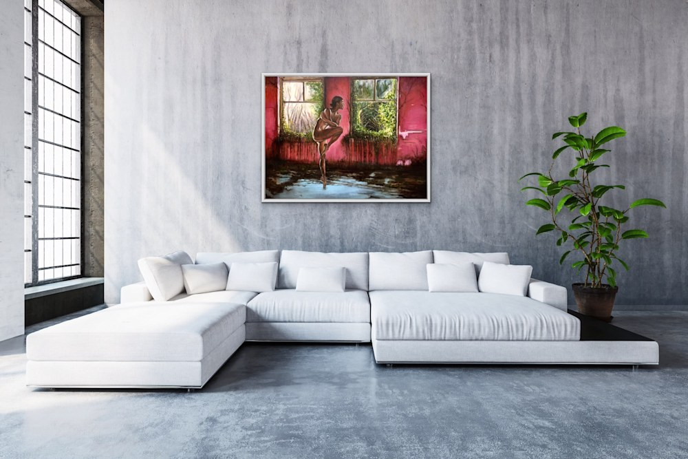 Ghosts and Recollections Original Romantic Fine Art Showpiece Oil Painting View 2