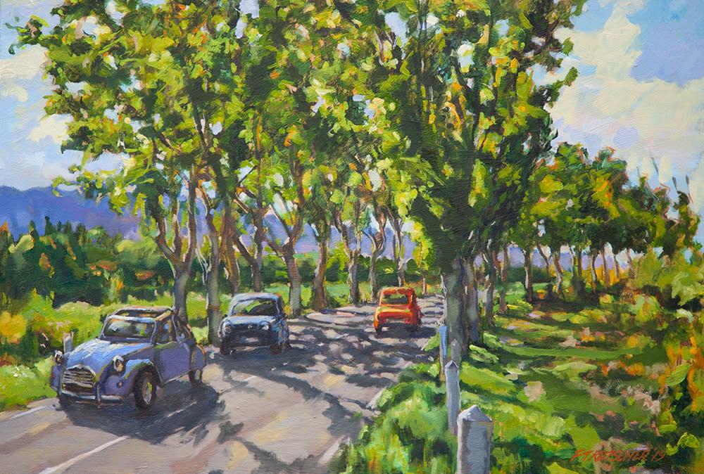 Kutscher Tree Lined Road near Saint Remy 1000