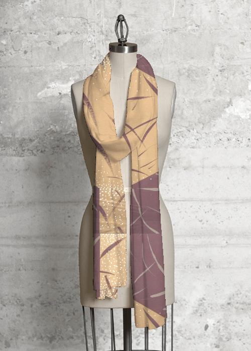 burg:gold scarf