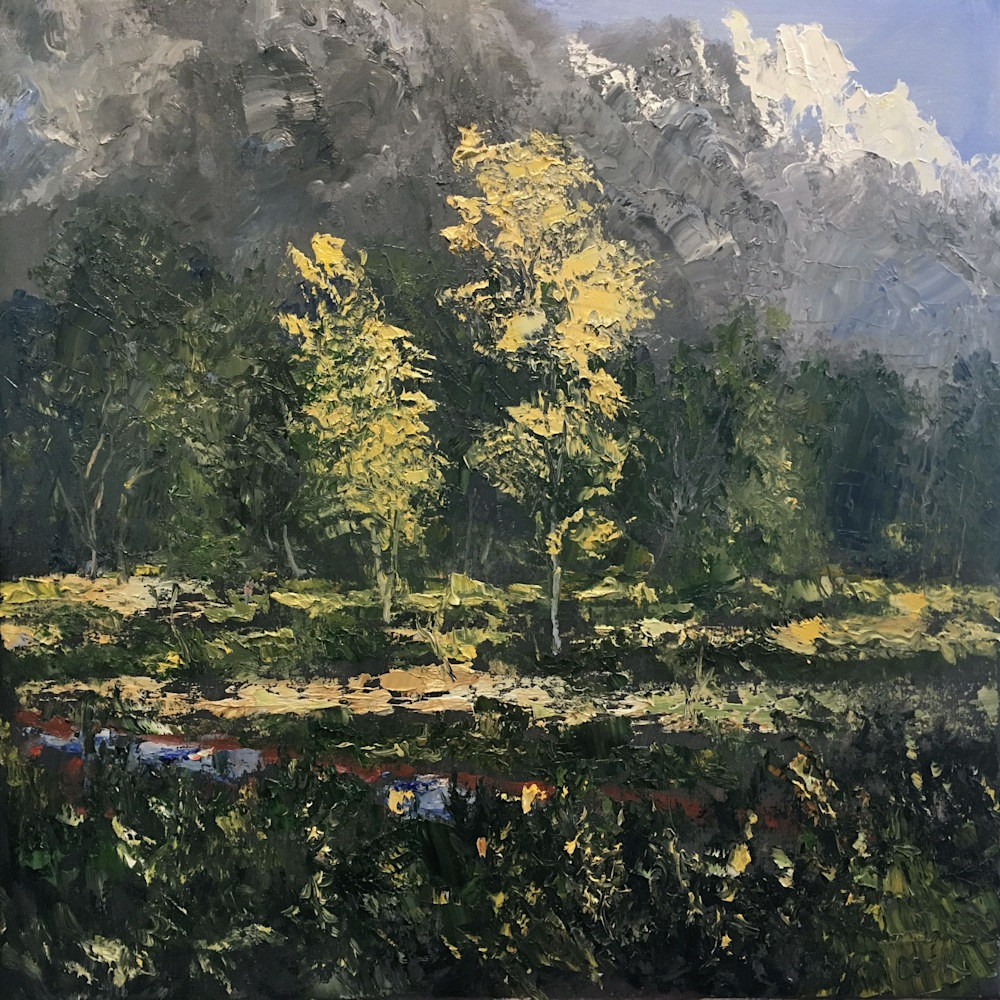 James Pringle Cook, East Cemetery Road, Oil on Canvas, 24 X 24, 4800