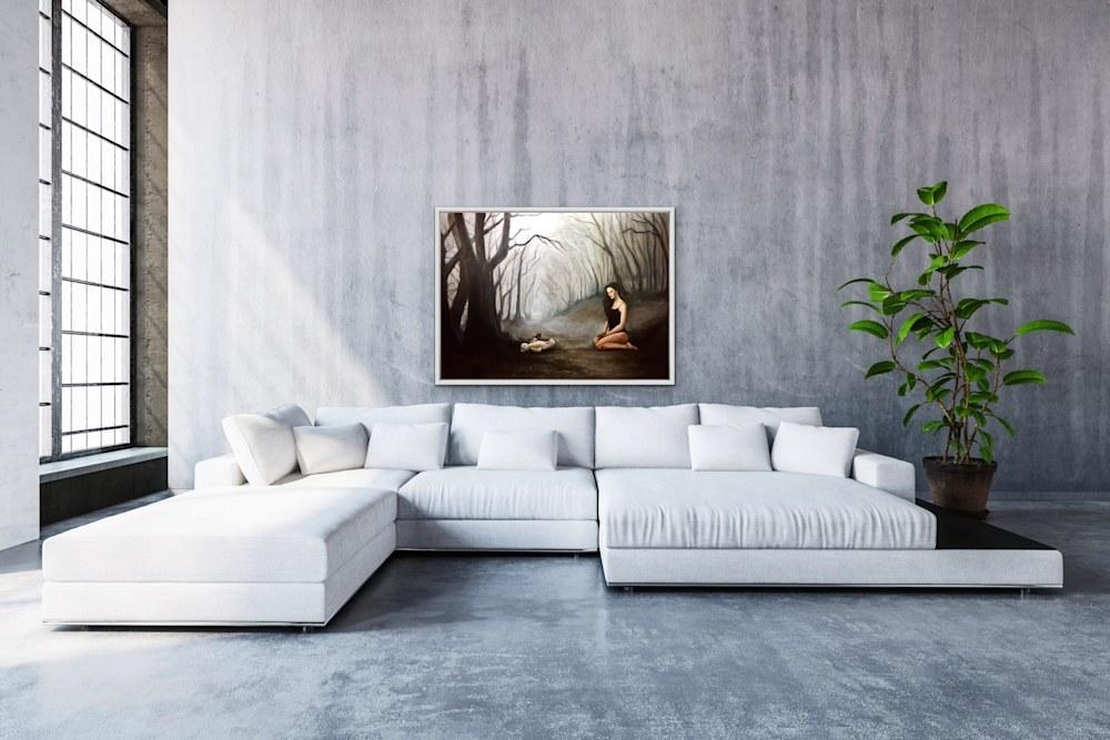 Shadows and Hope Original Romantic Fine Artwork View 3