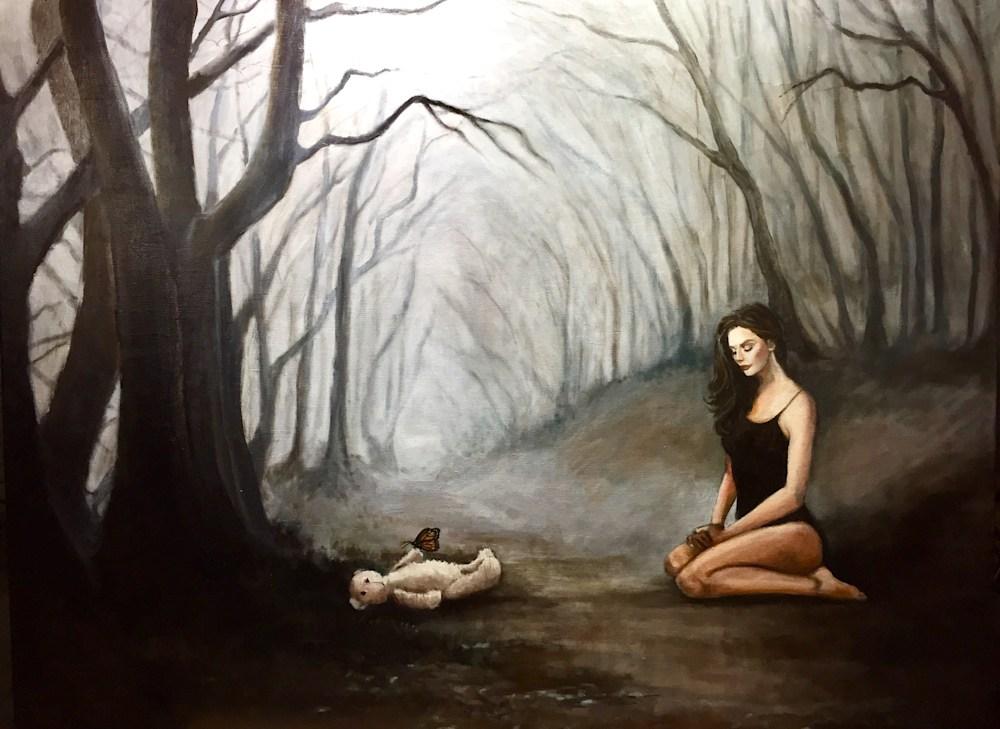 Shadows and Hope Original Romantic Fine Artwork by American Artist Hilary J. England