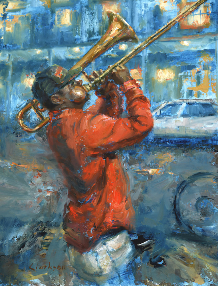 Trombone on Frenchmen Street 300 ppi 17 x 13 150 ppi
