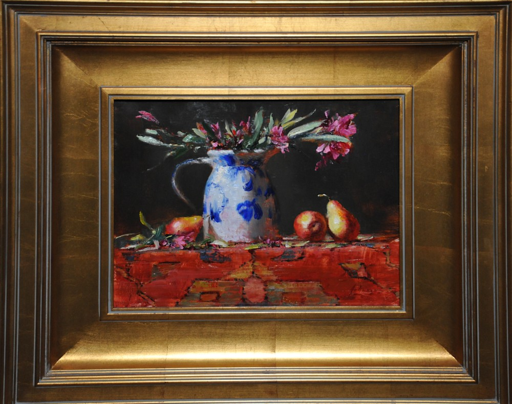 Oleander and Pears 2 Framed