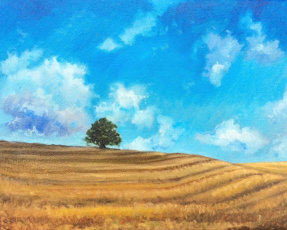 Landscape Original Romantic Oil Painting by Hilary J England