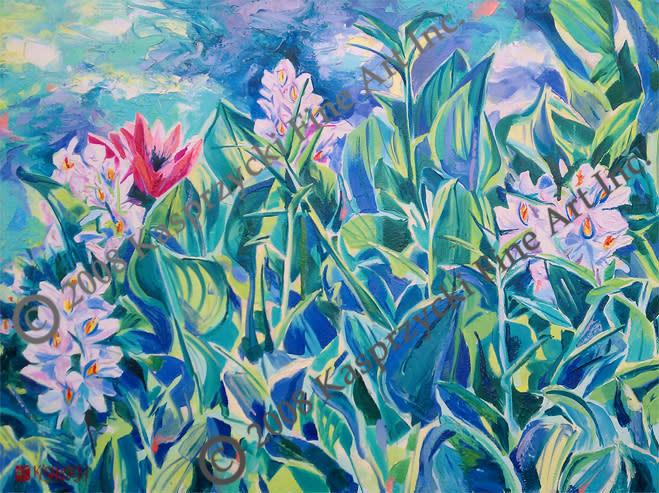 Water Hyacinths gic wC