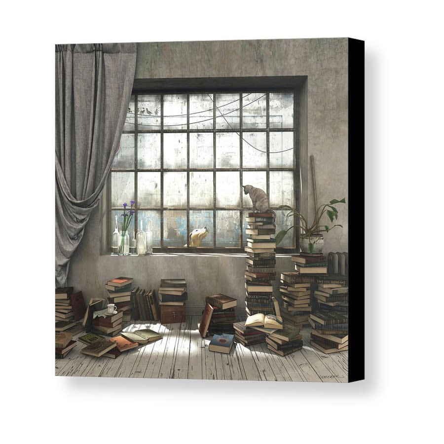 the introvert cynthia decker canvas print