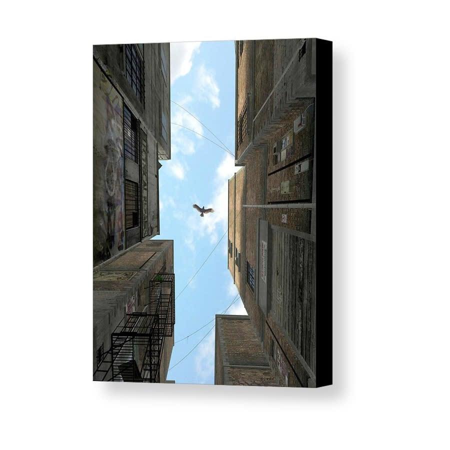 afternoon alley cynthia decker canvas print