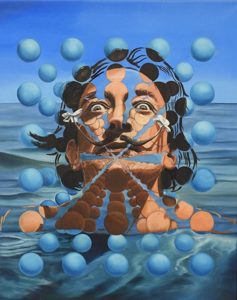 Marquez Gatica Monica 'Salvador Dali' Oil on canvas
