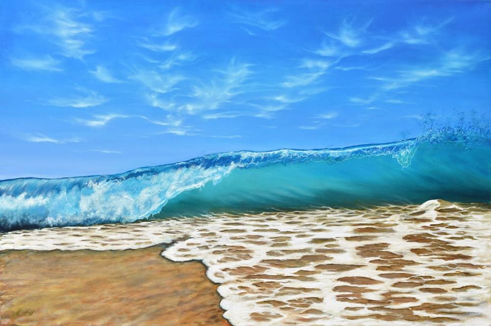 'Beach Walk' Oil on canvas by Monica Marquez Gatica MMG Art Studio