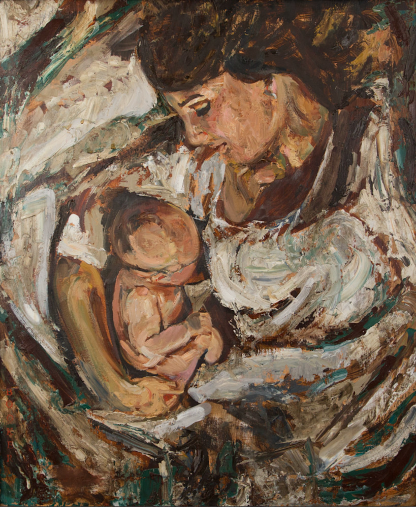 Mother and Child 18X24 Original with or without frame