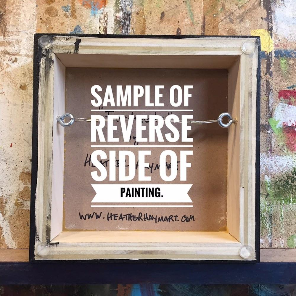 Sample of Reverse Side 8x8