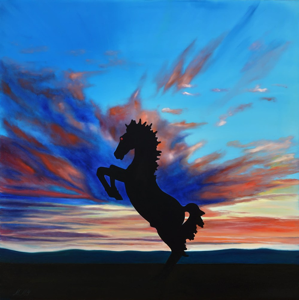 'Bluecifer' oil on canvas by Monica Marquez Gatica MMG Art Studio