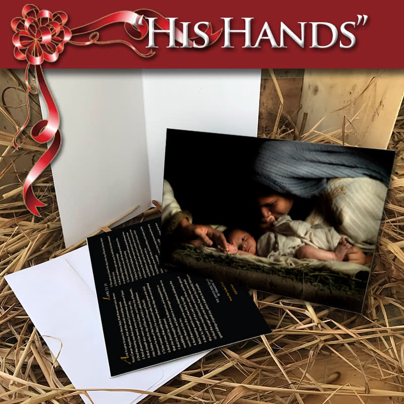 Greeting Card His Hands web