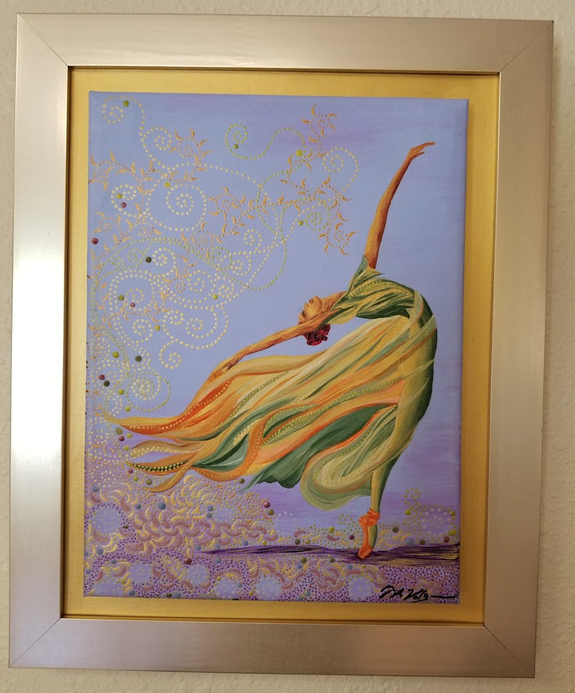 framed flamingbackstroke