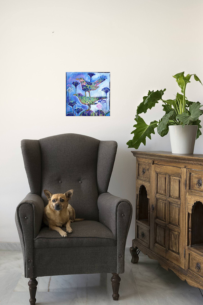 birds bloom interior