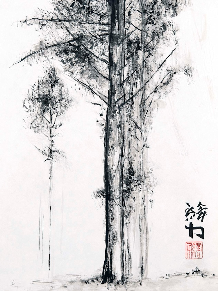 hombretheartist sumie pinetree 5 forwebsite