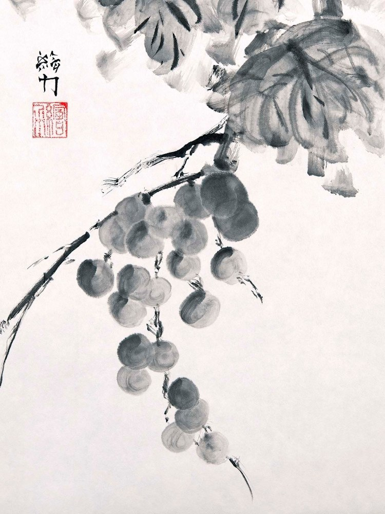 hombretheartist sumie grapes 2 forwebsite