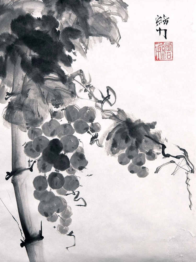 hombretheartist sumie grapes 1 forwebsite