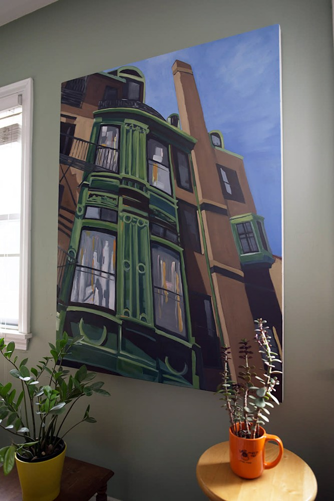 Fairfield Street on wall by paul william artist