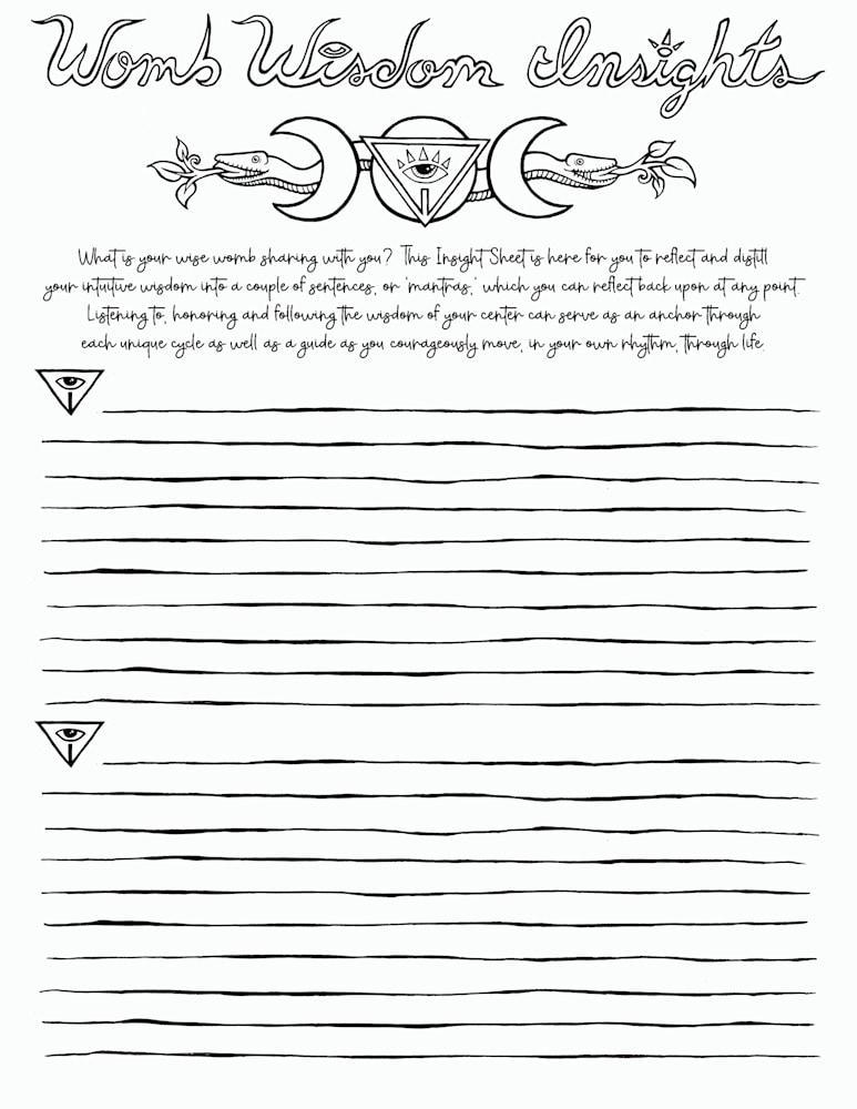 Insight Sheet page 1