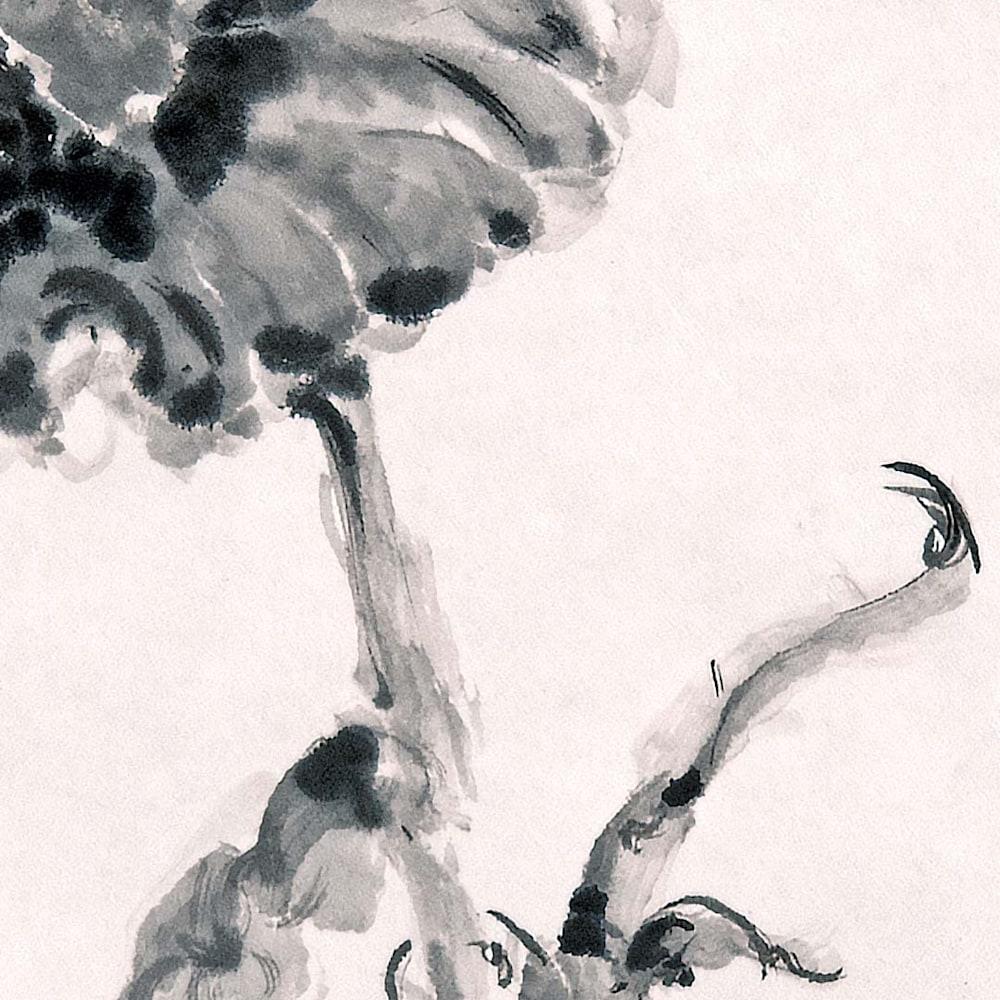 hombretheartist sumie flower 1 detail