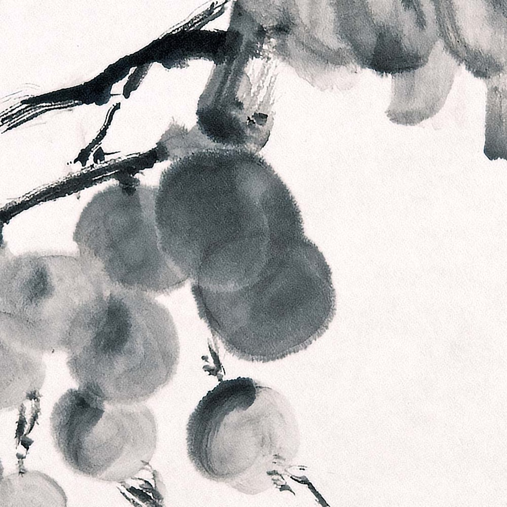 hombretheartist sumie grapes 2 detail