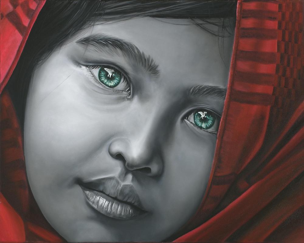 Monica Marquez Gatica 'Yuva' 16x20  Oil on canvas $832