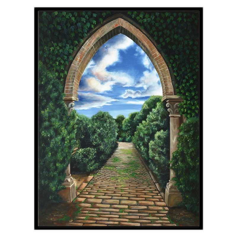 30x40 CGW black frame garden pathway