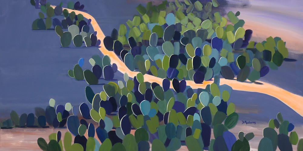 SEA OF PRICKLY PEAR by Diana Madaras  36 x 72  xxd