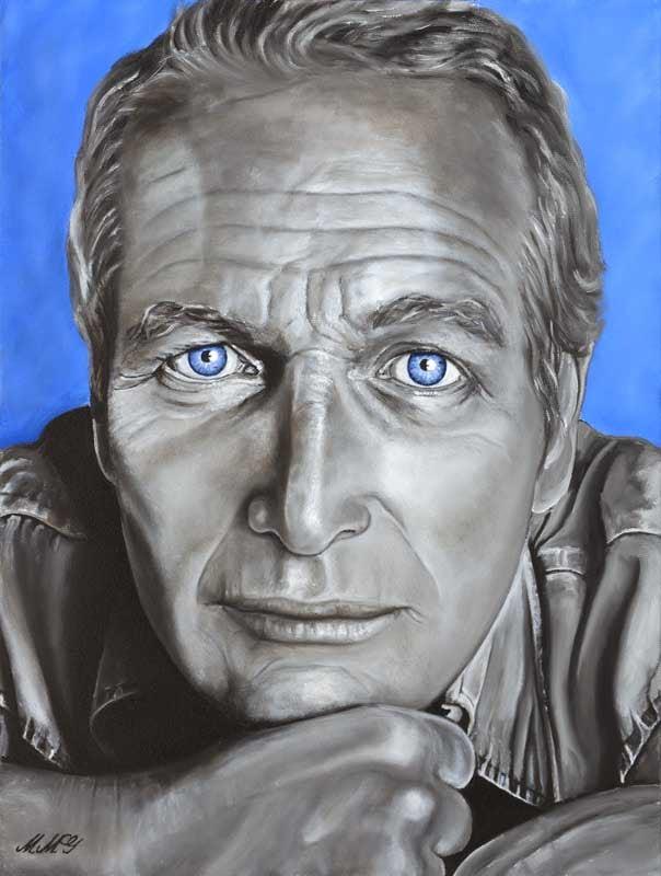 Oil on canvas 'Newman' by Monica Marquez Gatica MMG Art Studio web