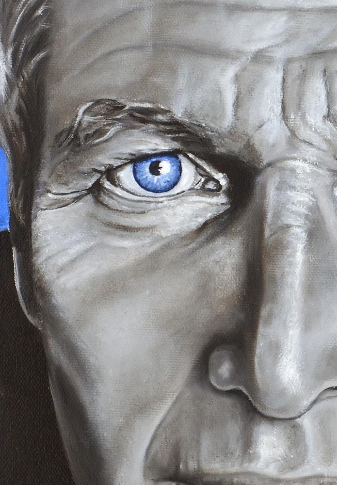Oil on canvas 'Newman' DETAIL by Monica Marquez Gatica MMG Art Studio