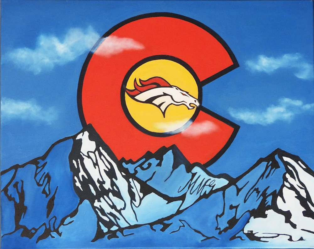 Full 'Colorado Tribute' by Monica Marquez Gatica MMG Art Studio