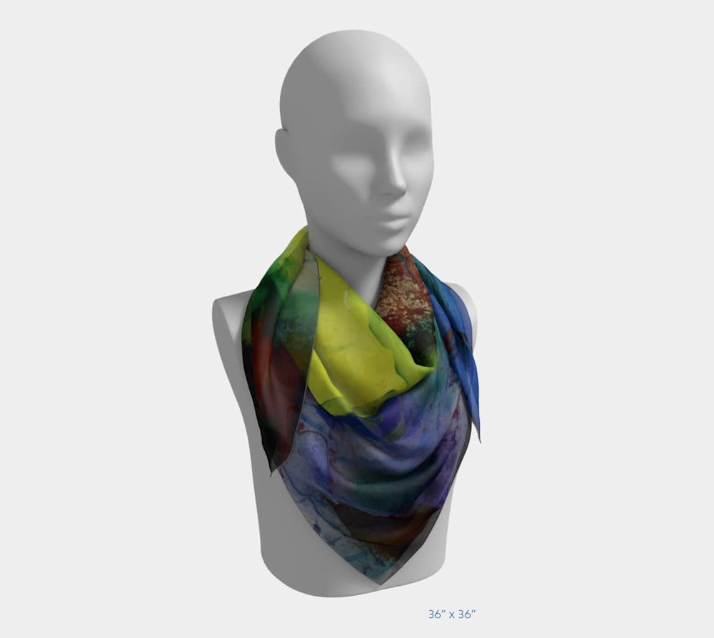 My Colors by Beth Shapiro 36x36 scarf