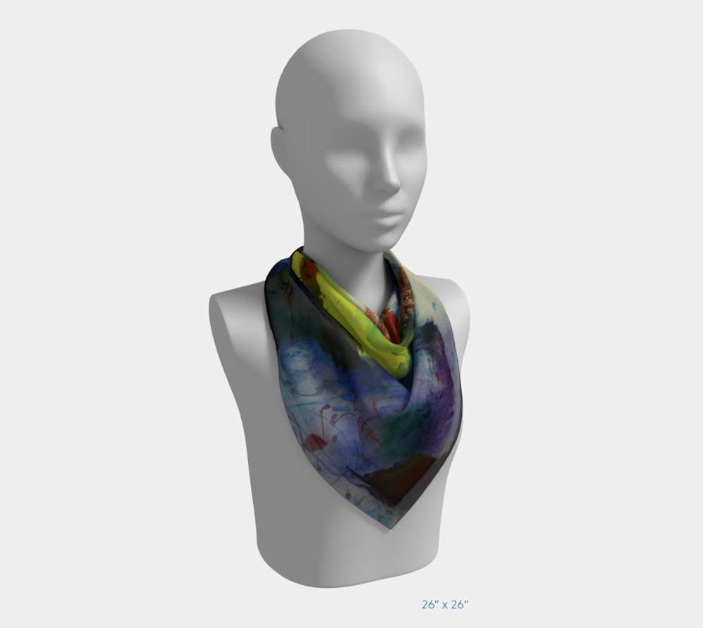 My Colors by Beth Shapiro 26x26 scarf