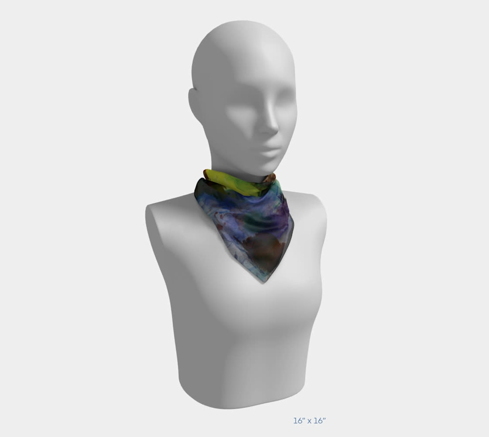 My Colors by Beth Shapiro 16x16 scarf
