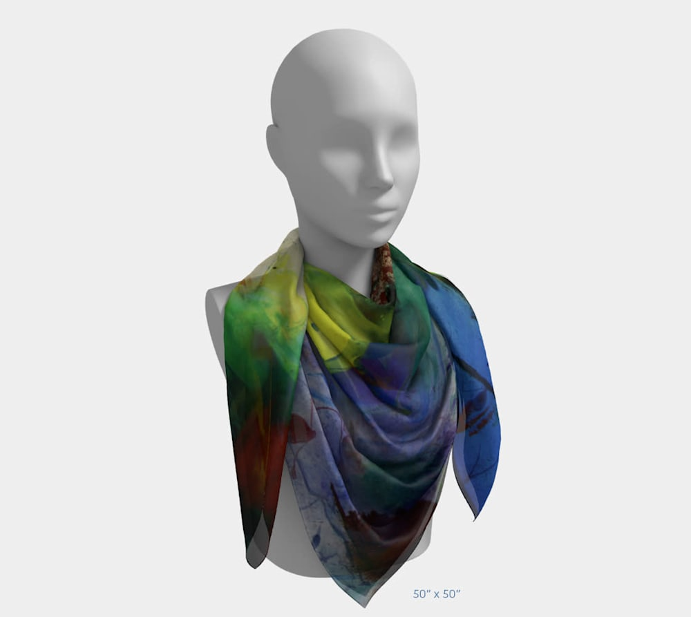 My Colors by Beth Shapiro 50x50 scarf