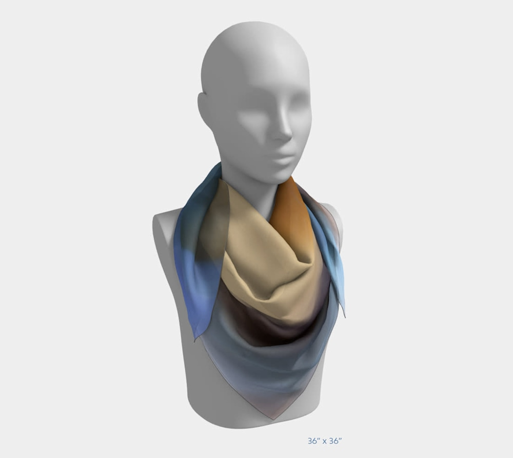 Draw Me After You by Beth Shapiro 36x36 scarf