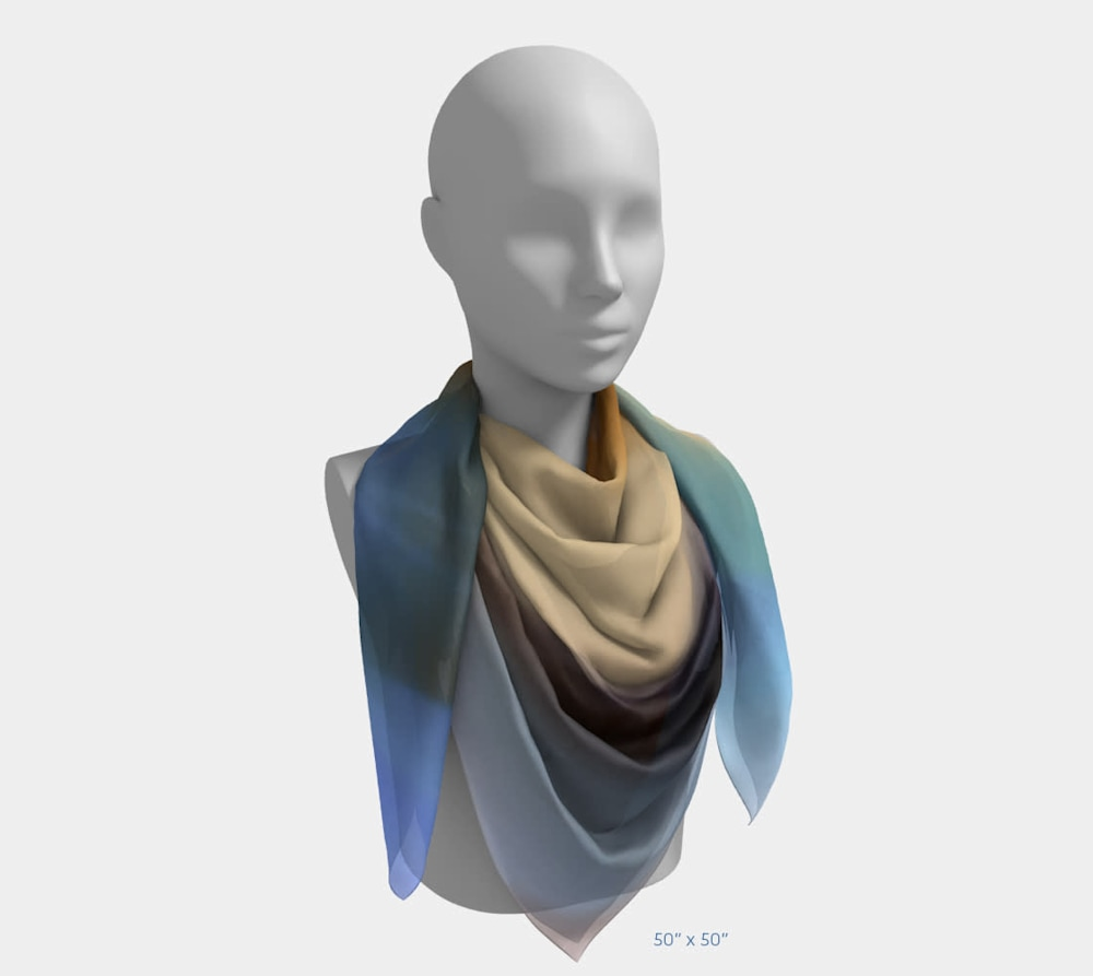Draw Me After You by Beth Shapiro 50x50 scarf