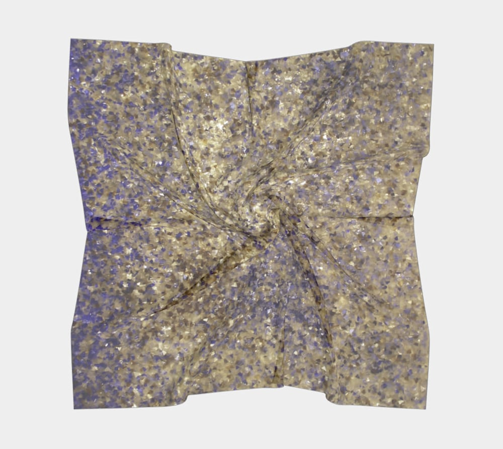 Shattered Painting by Beth Shapiro square scarf