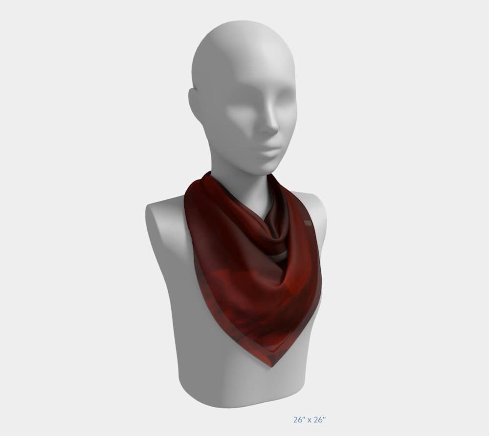 Edge in Flight by Beth Shapiro 26x26 scarf