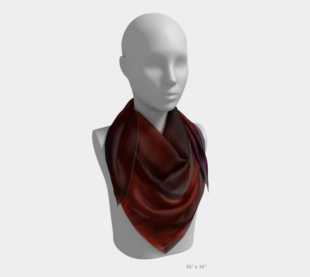 Edge in Flight by Beth Shapiro 36x36 scarf