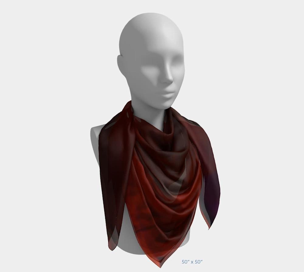 Edge in Flight by Beth Shapiro 50x50 scarf