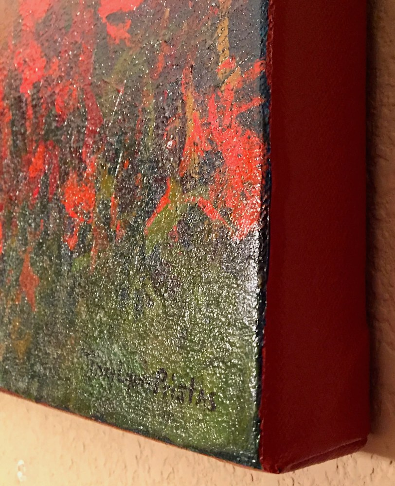 Gallery Wrapped Edge Tiny Wishes Hummingbird Painting Pristas
