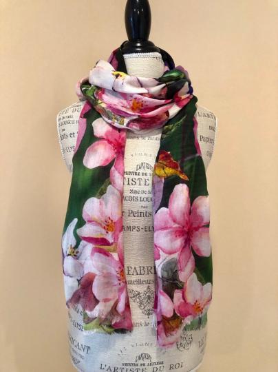 Sweet Pea long scarf