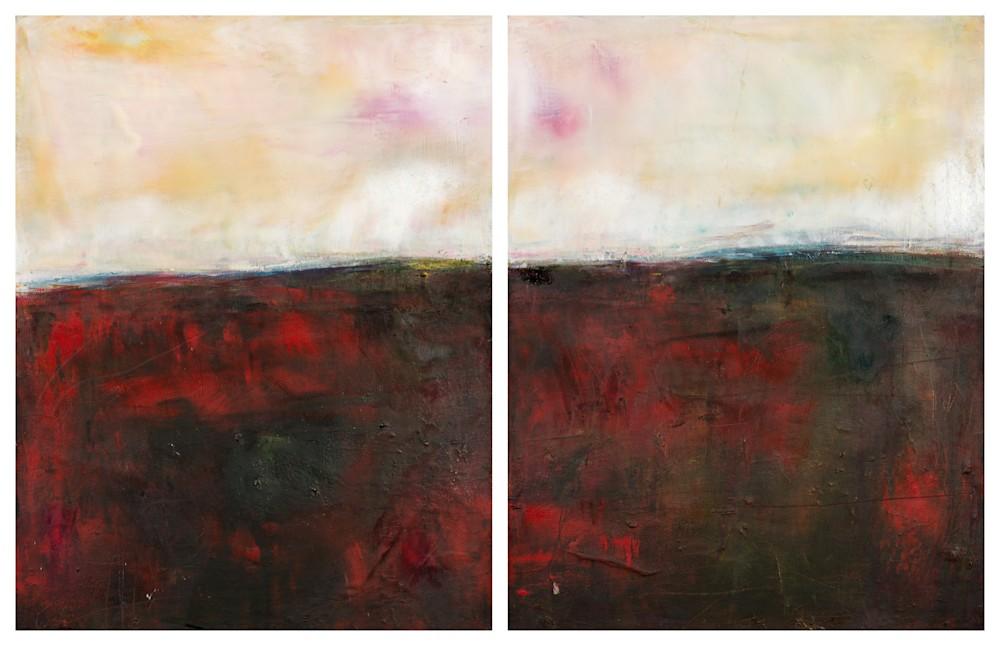 'The Walk Home' Eadaoin GLynn, 2019, oil, cold wax, mixed media on canvas 45
