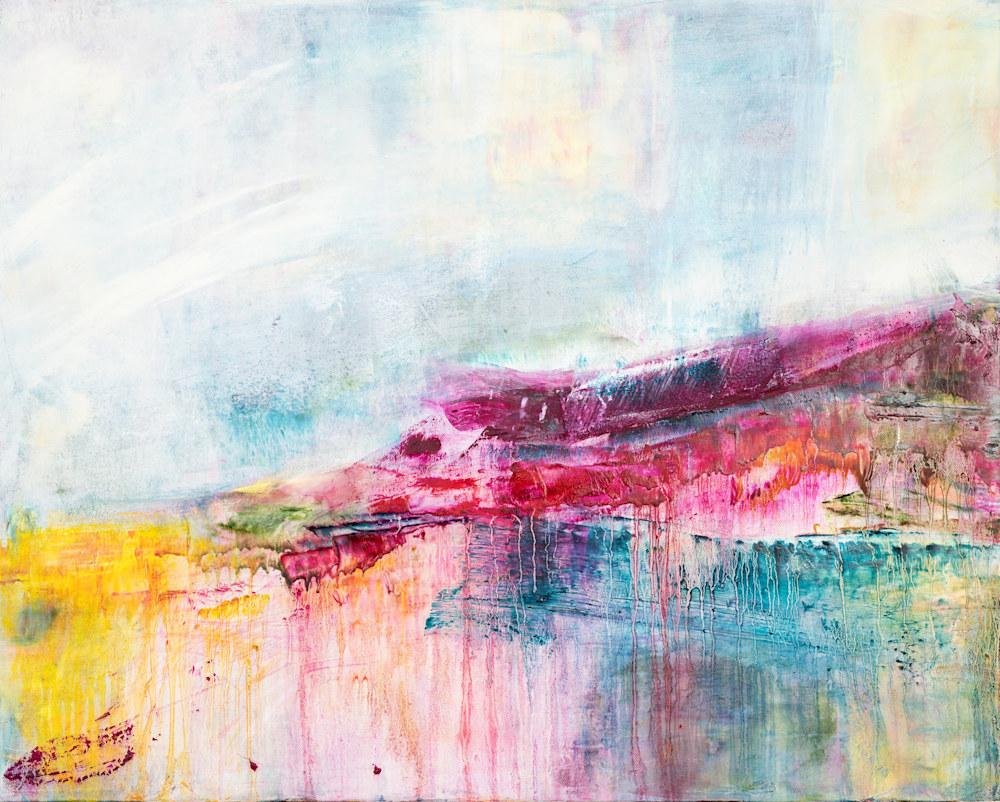 'Morning Walk' Eadaoin glynn 2019 'oil, cold wax, mixed media on canvas 60