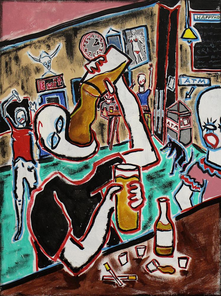 Bar painting paul wylenczek wetpaintnyc gallery